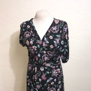 Made in USA XXL Floral Pattern Stretch Dress
